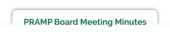 PRAMP Board Meeting Minutes