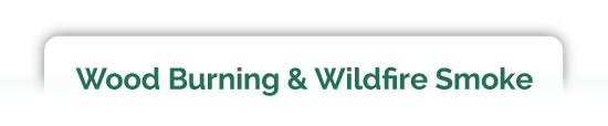 WOOD BURNING & WILDFIRE SMOKE